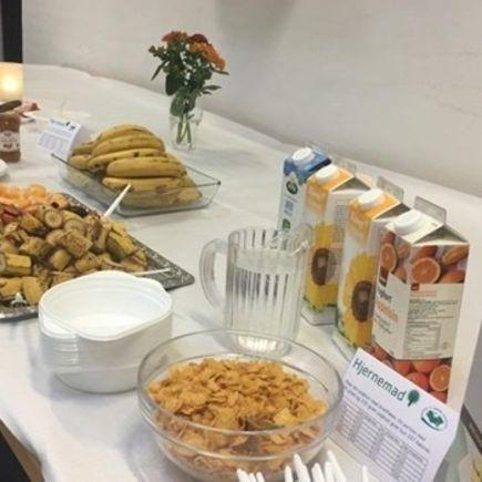 Bæredygtig morgenmad til elever på Lolland-Falster