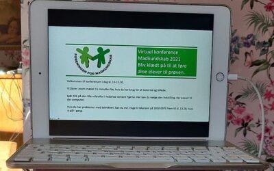 Virtuel konference omkring valgfagsprøven